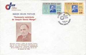 Costa Rica Repertorio Americano, J Garcia Monge, Signature Sc C815-C816 FDC 1981