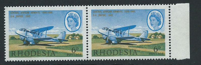 Rhodesia SG 393  MVLH pair light shade w normal & colour ...