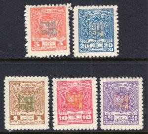 Paraguay 341-345 MNH VF
