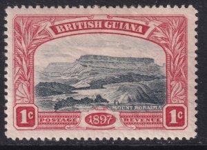Sc# 152 British Guiana 1898 QV Queen Victoria 60th anniversary 1¢ MLMH CV $10.