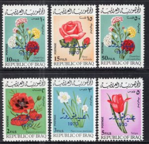 Iraq 532-537 Flowers MNH VF