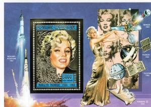 Central African Rep.1995 Marilyn Monroe S/S Gold MNH Mi.B574