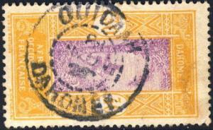 DAHOMEY - 1925 -  CAD DOUBLE CERCLE OUIDAH / DAHOMEY SUR N°73