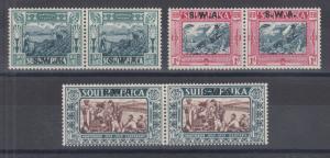 South Africa Sc B9-B11 MLH. 1939 Voortrekkers Centennial, cplt set, F-VF.
