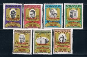 Honduras C380-86 MNH set Priest overprints (H0058)