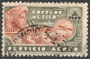 MEXICO C176 $1P 1934 Definitive Wmk Gobierno...279 Used (942)