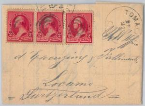 52483 -  UNITED STATES -  POSTAL HISTORY: COVER from TOMALES to SWITZERLAND 1894