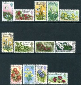 FALKLAND ISLANDS-1972 Flowers Set of 13 Sg 276-88 VERY FINE USED  V31810