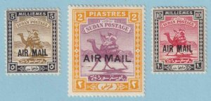 SUDAN C1 - C3 AIRMAILS  MINT HINGED OG * NO FAULTS EXTRA FINE! - Y299