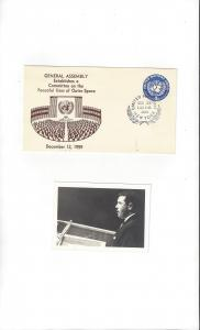 United Nations U2, Postal Stationery,  Terins General Assembly 1959, Photo