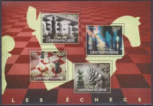 2014 Central African Republic 5035-38KL Chess 14,00 €