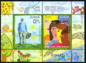 Montenegro Sc# 148 MNH Souvenir Sheet 2006 Europa
