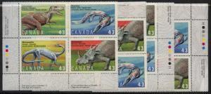 Canada - 1993 Prehistoric Life Plate Blocks mint #1498a