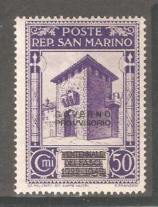 San Marino 1943,Overprinted 50c,Sc 233,Mint Hinged*