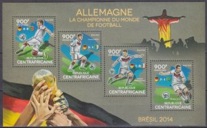 2014 Central African Republic 4860-63KL 2014 FIFA World Cup Brazil 16,00 €