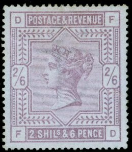 SG175, 2s 6d lilac, M MINT. Cat £6750. BLUED PAPER. BRANDON CERT. FD