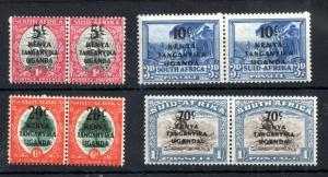 Kenya Uganda Tanganyika 1941 Bilingual LHM set #151-154 WS12733