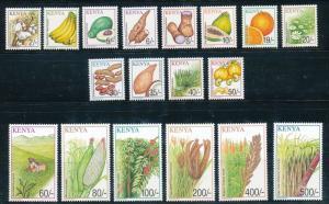 Kenya 2001 Crops Definitives 18v , MNH