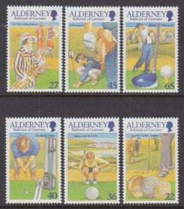Alderney 170-175 Golf MNH VF