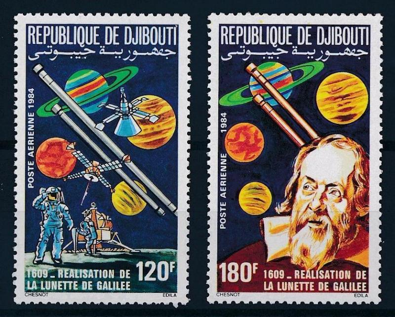 [64197] Djibouti 1984 Space Travel Weltraum Planets Galileo Airmail MNH