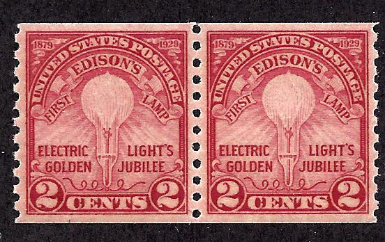 656 Mint,OG,NH... Pair... SCV $45.00