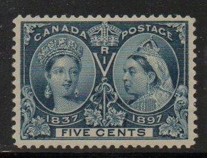 Canada Sc 54 1897 5c Victoria Jubilee stamp mint