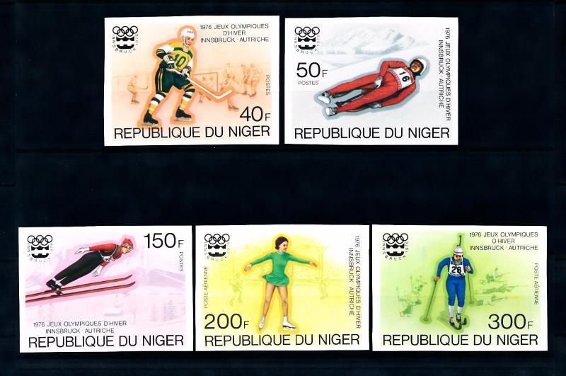 [55731] Niger 1976 Olympic games Icehockey Luge Figure skating Imperforated MNH