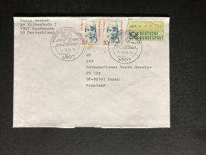 Germany #1475//9N532 Famous Women Registered Cover to Finland #1666