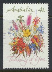 SG 1230b  SC# 1164a left margin imperf  Used  Wildflowers perf 14½