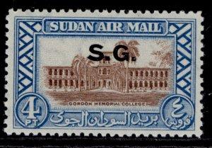 SUDAN GVI SG O63, 4p brown & light blue, M MINT.