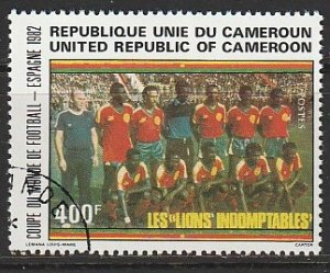 1982 Cameroun - Sc 713 - used VF - 1 single - National Team - World Cup