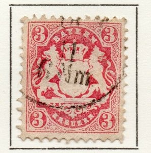 Bayern Bavaria 1875 Early Issue Fine Used 3pf. NW-120713