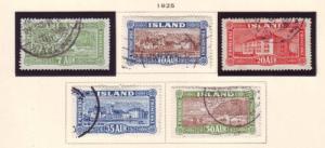 Iceland Sc 144-8 1925 Landing Mail stamp set used