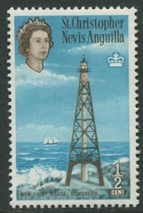 St. KITTS-NEVIS-Scott 145-QEII -Definitives-1963- MNH - Single 1/2c Stamp