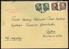 Poland 1950 Cover cancelled SOSNOWIEC 1 (flap missing)