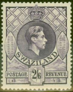 Swaziland 1943 2s6d Violet SG36a Fine Lightly Mtd Mint