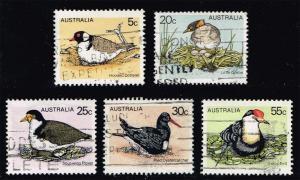 Australia #682-686 Australian Birds Set of 5; used (1.70)