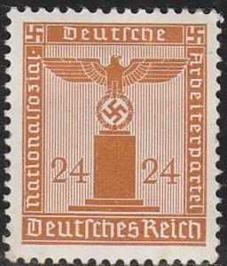 Stamp Germany Official Mi 163 Sc S20 1942 WWII Dienst War Era Franchise MNH