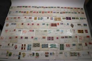 US HF House Farnam Color Cachet FDC lot 100+1940-1950s Commemoratives addressed
