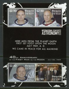 BEQUIA  40th ANNIVERSARY OF THE FIRST MAN ON THE MOON  SHEET MINT NH