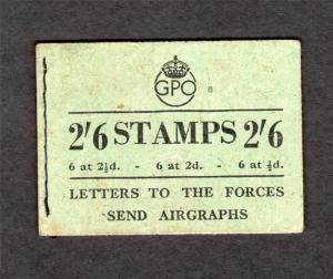 2/6 BOOKLET AUGUST 1944 Cat £160
