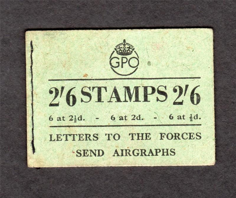 2/6 BOOKLET AUGUST 1944 Cat £160