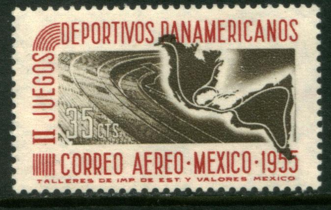 MEXICO C228, 35c Second Pan American Games. MINT, NH.. F-VF.