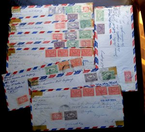 "RARE SAUDI ARABIA 1950-60's COLLECTION OF 10 COVERS ""ARAMCO"" MAIL TO USA UNIQUE"