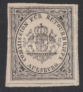 GERMANY Retourbriefe - Returned Letter Stamp - an old forgery - Augsburg....B225