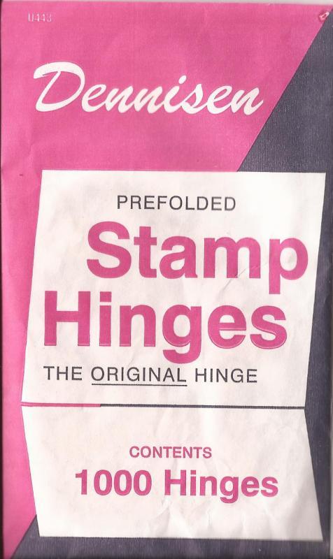 3 packages of Dennisen Stamp Hinges (1000 per package)