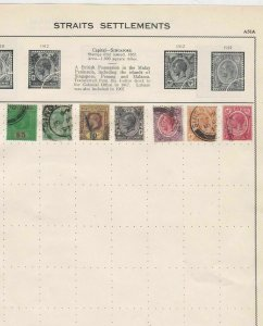 straits settlements used stamps values to $5 dollar ref r8621