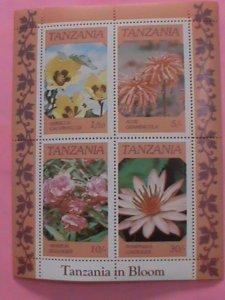 TANZANIA  STAMP- 1986 SC#318a, TANZANIA IN BLOOM-WILD FLOWERS -MNH STAMP SHEET