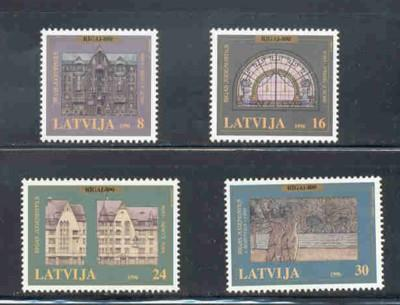 Latvia Sc 429-32 1996 800th anniv Riga stamp set mint NH