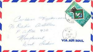 Saint Lucia 20c Arms of H.M.S. Pelican 1976 Micoud, St. Lucia Airmail to Mont...